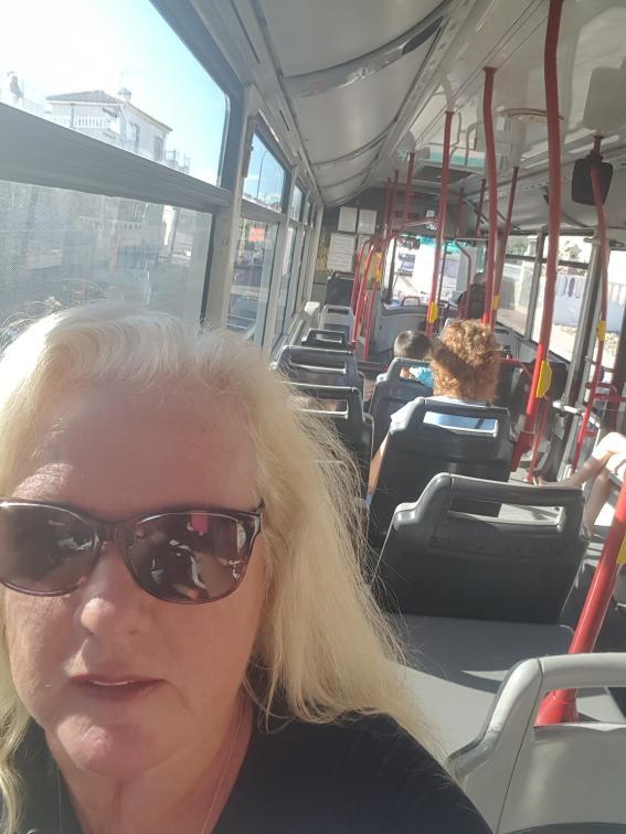 Selfie på bussen.